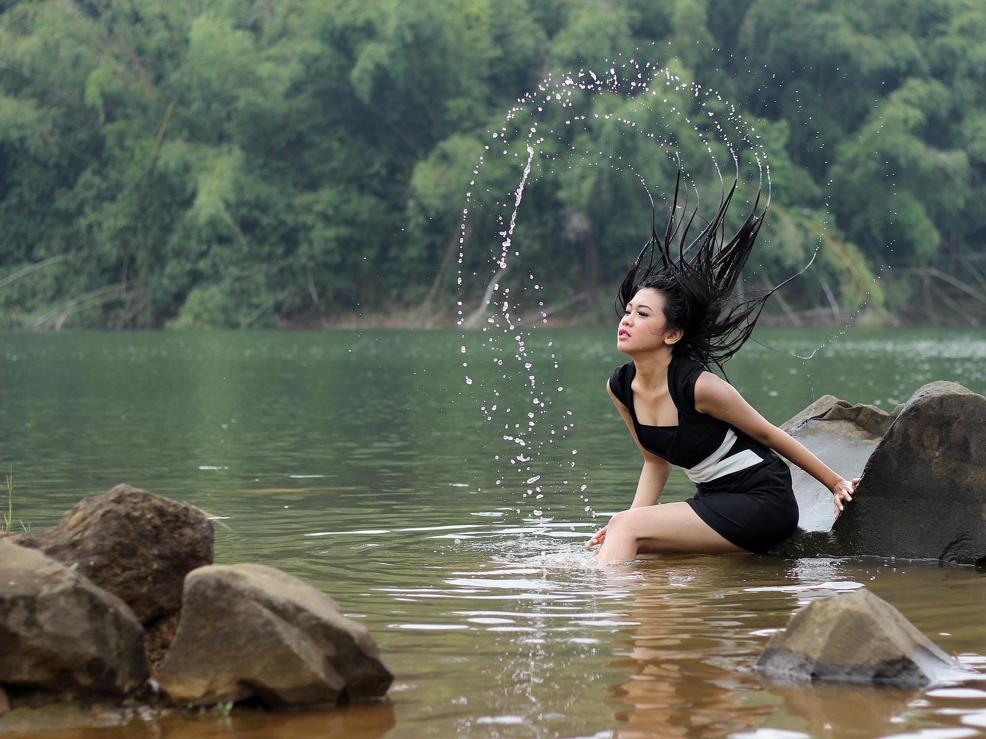 Bathing on Lake